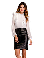 cheap -Women's Work Blouse - Solid Stand