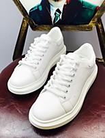 Недорогие -Муж. обувь Полиуретан Весна Осень Удобная обувь Кеды для Повседневные Белый
