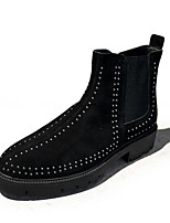 cheap -Men's Shoes Cowhide Fall Combat Boots Boots Booties/Ankle Boots for Casual Black