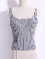 cheap -Women's Vintage Slim Tank Top - Solid Colored Strap