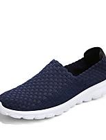 Недорогие -Муж. обувь Спандекс Весна Лето Удобная обувь Мокасины и Свитер Для прогулок Пряжки для Повседневные Черный Серый Синий