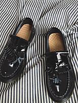 Недорогие -Муж. обувь Кожа Зима Осень Удобная обувь Мокасины и Свитер для Повседневные Черный