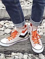 baratos -Homens sapatos Lona Verão Conforto Tênis para Casual Branco Khaki