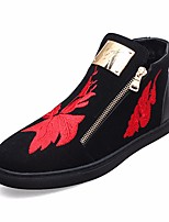 cheap -Men's Shoes Cowhide Spring Fall Comfort Boots for Casual Gold Red
