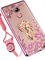 cheap -Case For Huawei Mate 8 Shockproof Rhinestone with Stand Back Cover Flower Soft Silicone for Huawei Mate 8