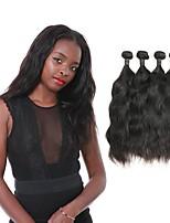 cheap -Brazilian Natural Wave Human Hair Weaves 4pcs 0.4