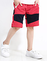 cheap -Boys' Solid Colored Shorts Spring Red