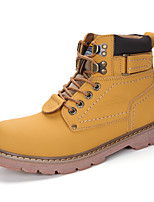 cheap -Men's Shoes Leather Spring Fall Combat Boots Comfort Boots Mid-Calf Boots for Casual Office & Career Black Yellow Light Brown Dark Brown