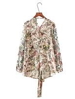 baratos -Mulheres Blusa Básico Floral