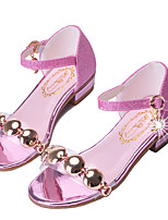 cheap -Girls' Shoes Sparkling Glitter Spring Summer Flower Girl Shoes Novelty Sandals Sequin Rivet Buckle for Party & Evening Dress Gold Silver