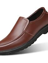Недорогие -Муж. обувь Кожа Весна Осень Удобная обувь Мокасины и Свитер для Повседневные Черный Коричневый