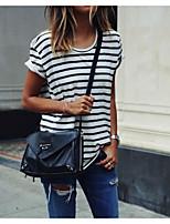 cheap -Women's Basic Street chic T-shirt - Striped