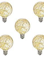 abordables -5pcs 3W 300 lm E26/E27 Bombillas de Filamento LED G95 33 leds SMD Decorativa Blanco Cálido 110-120V 220-240V