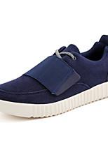 Недорогие -Муж. обувь Ткань Весна Осень Удобная обувь Мокасины и Свитер для Повседневные Черный Серый Синий