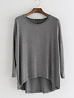 cheap -Women's Loose T-shirt - Solid Colored