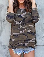 cheap -Women's Street chic T-shirt - Camouflage