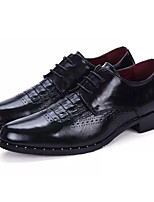 cheap -Men's Shoes Synthetic Microfiber PU Spring Fall Comfort Oxfords for Casual Black Gray Burgundy