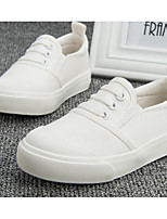 cheap -Girls' Boys' Shoes Canvas Spring Fall Comfort Sneakers for Casual White Black Brown