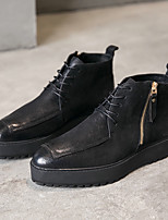 cheap -Men's Shoes Nappa Leather Spring Fall Bootie Boots Booties/Ankle Boots for Casual Party & Evening Black Coffee