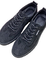 cheap -Men's Shoes Pigskin Spring Fall Comfort Sneakers for Casual Black Gray