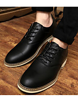 cheap -Men's Shoes PU Spring Fall Comfort Oxfords for Casual Black Blue