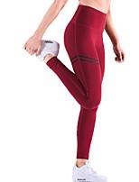 abordables -Pantalon de yoga Bas Avion-école Yoga Séchage rapide Fitness Taille médiale Micro-élastique Vêtements de sport Femme Yoga Exercice &