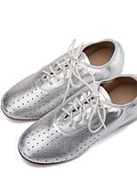 cheap -Women's Jazz Nappa Leather Flat Oxford Training Professional Flat Heel Gold Black Silver <1 Customizable