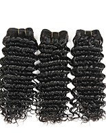 cheap -Brazilian Hair Wavy Human Hair Weaves 50g x 3 Extention Human Hair Extensions All Christmas Gifts Christmas Wedding Party Special