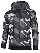 cheap -Men's Plus Size Sports Active Long Sleeves Hoodie - Solid Colored Hooded