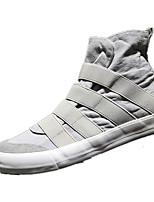 abordables -Homme Chaussures Toile Printemps Confort Basket pour Décontracté Noir Gris Bleu Bourgogne