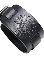 cheap -Men's Leather Cool Steampunk 1pc Leather Bracelet - Steampunk Rock Geometric Black Brown Bracelet For Club Street