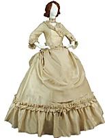 economico -Vittoriano Rococò Costume Per donna Per adulto Completi Beige Vintage Cosplay Taffetà Maniche a 3/4 A palloncino