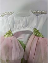 abordables -Chiens Chats Robe Vêtements pour Chien Taches & Carreaux Fleur Arc-en-ciel Mousseline de soie Tissu Costume Pour les animaux domestiques