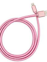 abordables -Eclairage Adaptateur de câble USB Charge rapide Haut débit Câble Pour iPhone 200 cm PU