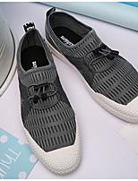 abordables -Homme Chaussures Polyuréthane Printemps Automne Confort Basket pour Décontracté Noir Gris