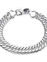 preiswerte -Herrn 1pc Ketten- & Glieder-Armbänder - Modisch Kreisform Silber Armbänder Für Geschenk Alltag