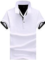 cheap -Men's Polo - Solid Colored Shirt Collar