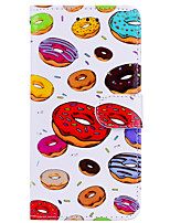 cheap -Case For Apple iPhone X iPhone 6 Card Holder Flip Pattern Full Body Cases Food Hard PU Leather for iPhone X iPhone 8 Plus iPhone 8 iPhone