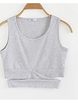 cheap -Women's Simple Cotton Tank Top - Solid Colored Strap