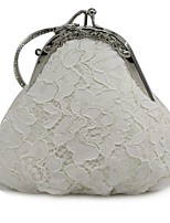 cheap -Women's Bags Satin Evening Bag Lace for Event/Party All Seasons White
