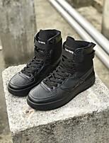 Недорогие -Муж. обувь Полиуретан Зима Осень Удобная обувь Кеды для Повседневные Белый Черный