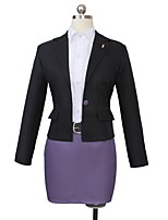 cheap -Inspired by Dangan Ronpa Kyoko Kirigiri Cosplay Anime Cosplay Costumes Cosplay Suits Other Long Sleeves Coat Shirt Skirt More Accessories