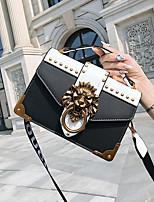 cheap -Women's Bags PU Shoulder Bag Zipper for Casual All Seasons White Black Blushing Pink