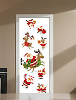 cheap -Famous Christmas Decorations Wall Stickers 3D Wall Stickers Holiday Wall Stickers Decorative Wall Stickers Door Stickers, Vinyl Paper