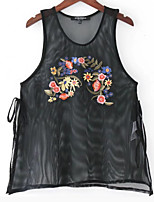 cheap -Women's Vintage Tank Top Embroidered
