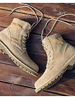 cheap -Men's Shoes Suede Winter Fall Combat Boots Comfort Boots Booties/Ankle Boots for Casual Camel