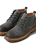 cheap -Men's Shoes Nubuck leather Spring Fall Combat Boots Comfort Boots Booties/Ankle Boots for Casual Black Gray Brown