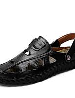 Недорогие -Муж. обувь Наппа Leather Лето Осень Удобная обувь Мокасины и Свитер для Повседневные Офис и карьера Черный Желтый Синий