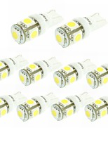 cheap -SENCART 10pcs BA9S T10 Car Motorcycle Light Bulbs 1.5W W SMD 5050 100lm lm 5 LED Interior Lights Foruniversal