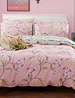 cheap -Duvet Cover Sets Floral 3 Piece Poly/Cotton 100% Cotton Jacquard Poly/Cotton 100% Cotton 1pc Duvet Cover 1pc Sham 1pc Flat Sheet